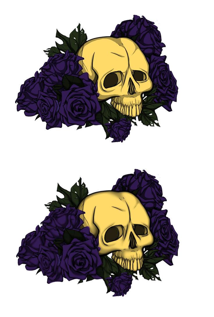 Skull Tattoo Design by VenneccaBlind