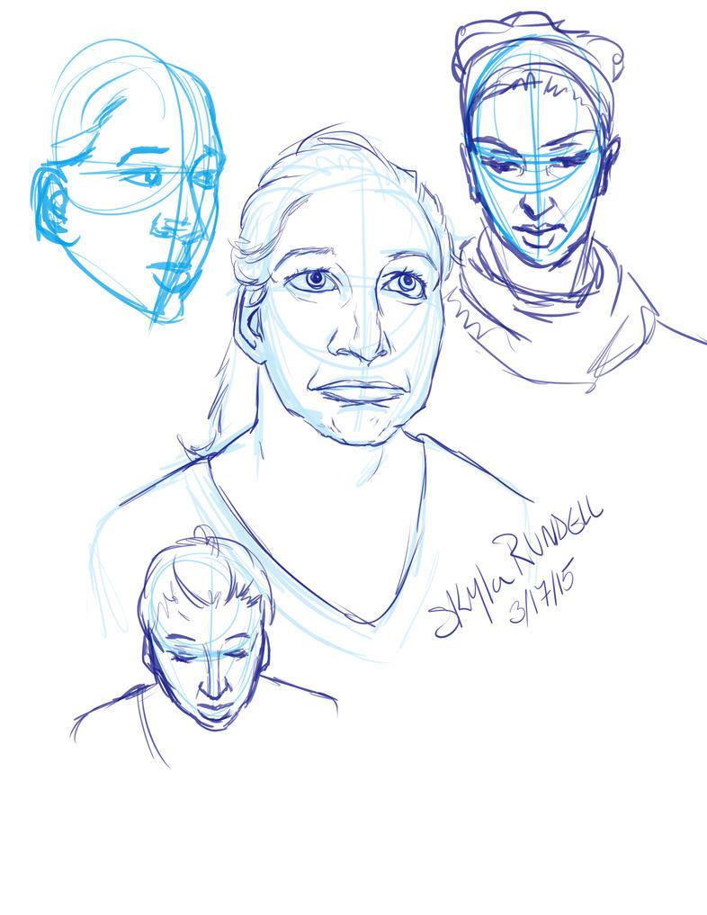Sketch Dump 3/17/15 by VenneccaBlind