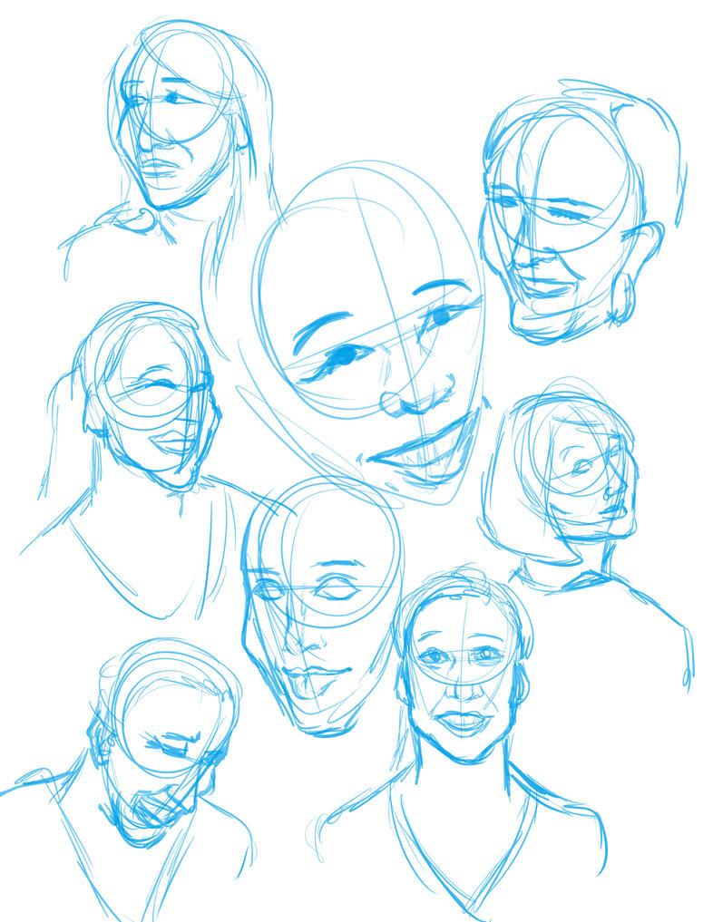 Sketch Dump 3/20/15 by VenneccaBlind