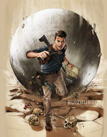 UNCHARTED 4 - The Game Magazine art by RUIZBURGOS