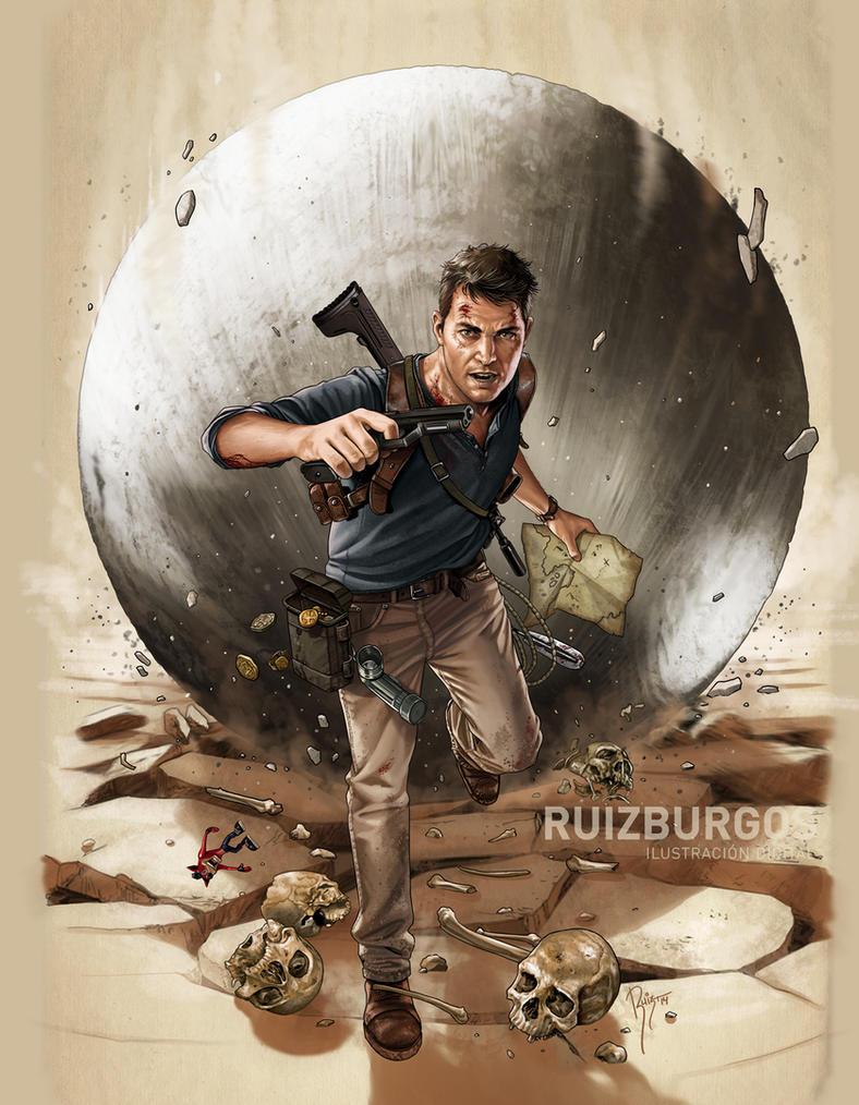 UNCHARTED 4 - The Game Magazine art by RUIZBURGOS