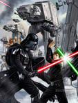 STAR WARS BATTLEFRONT - The Game Magazine art by RUIZBURGOS