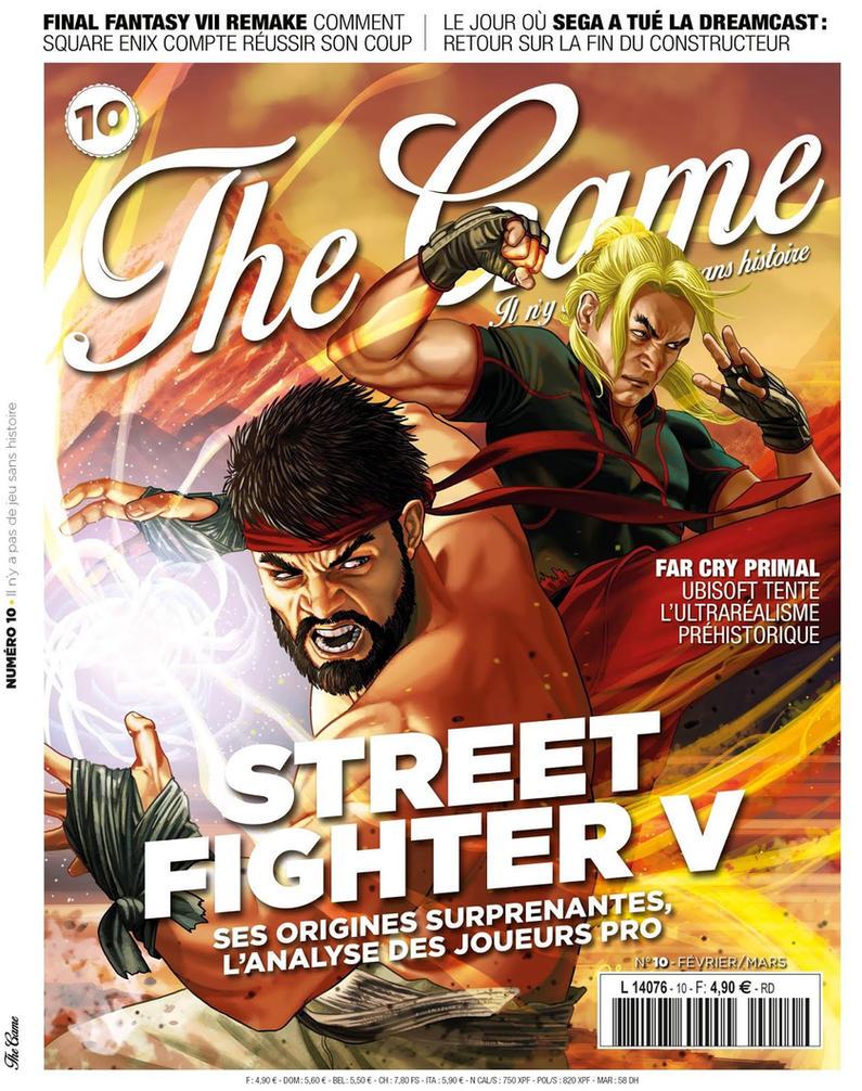 STREET FIGHTER V - The Game Magazine cover by RUIZBURGOS