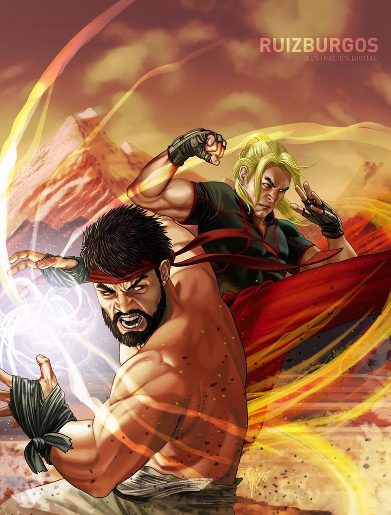 STREET FIGHTER V - The Game Magazine art by RUIZBURGOS
