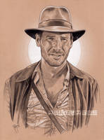 INDIANA JONES Pencil by RUIZBURGOS