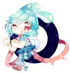 watch out! cute moonbunny coming through!