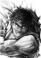 Ryu Sketch by FallenAngel-pen