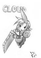 Cloud Final Fantasy VII by FallenAngel-pen