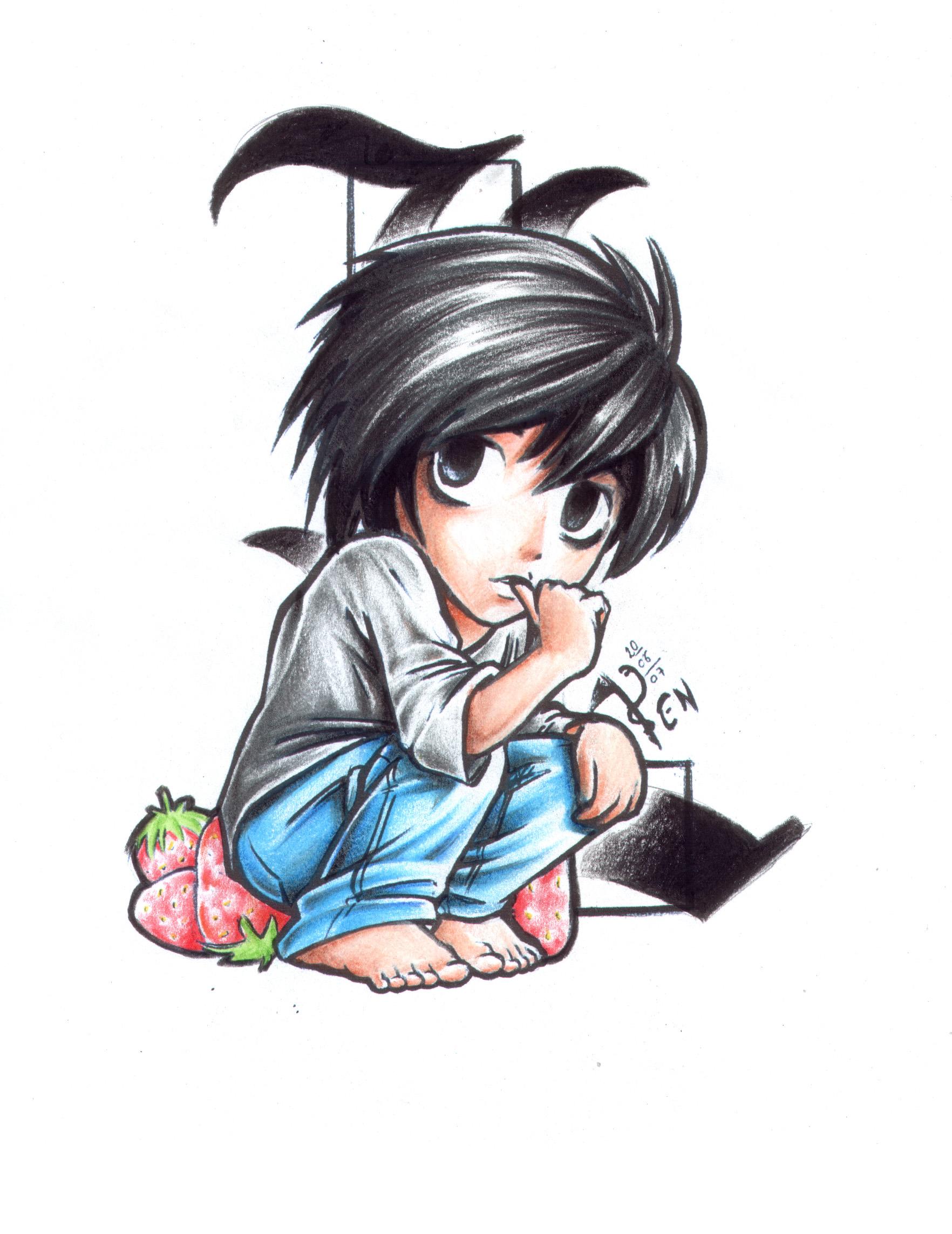 Album de Ryuzaki L_Chibi___Death_Note_by_FallenAngel_pen