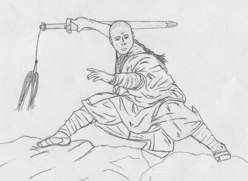 shaolin monk by khazadum on deviantart