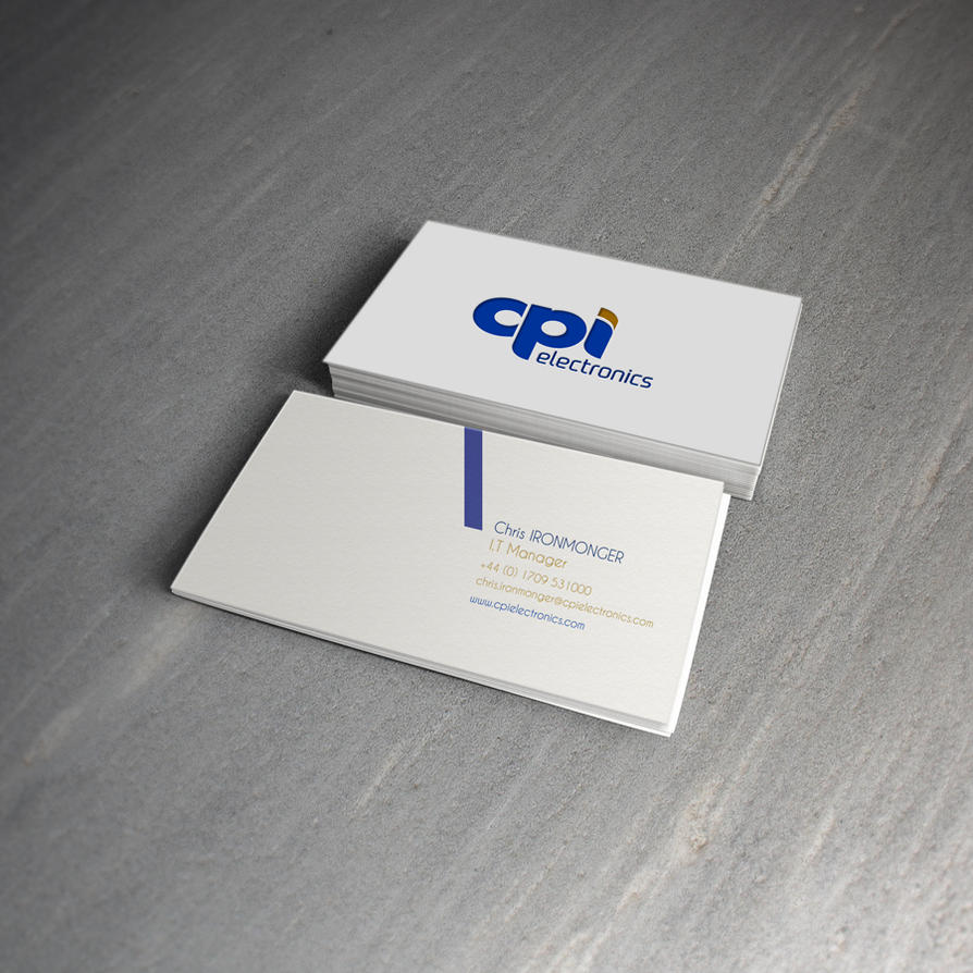 CPI Electronics Business Card Mock Up 1 by icondesigns on DeviantArt
