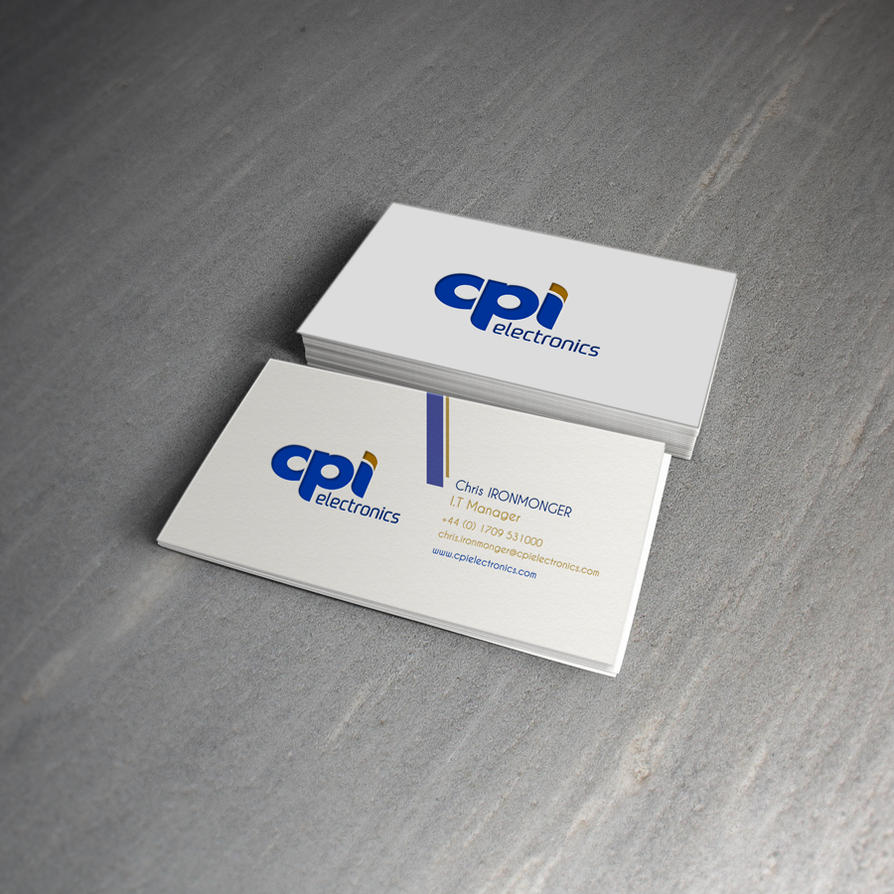 CPI Electronics Business Card Mock Up 2 by icondesigns on