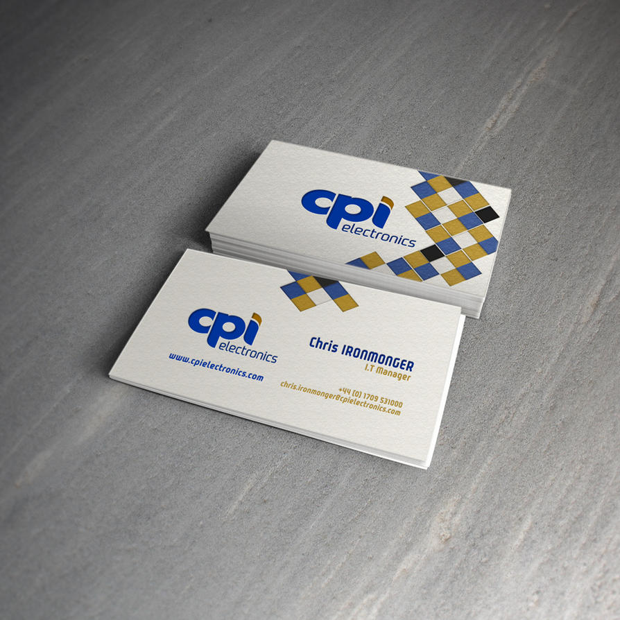 CPI Electronics Business Card Example 7 by icondesigns on DeviantArt