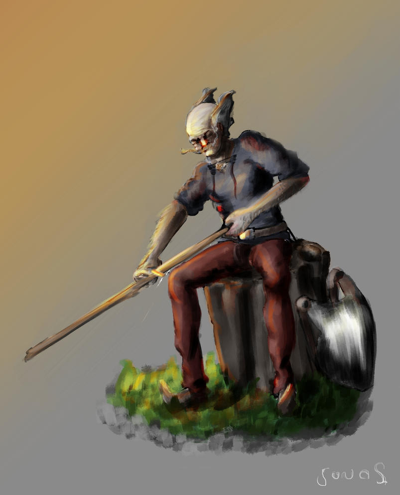 Character Design: Balduin the Old 2.0 by Flelb
