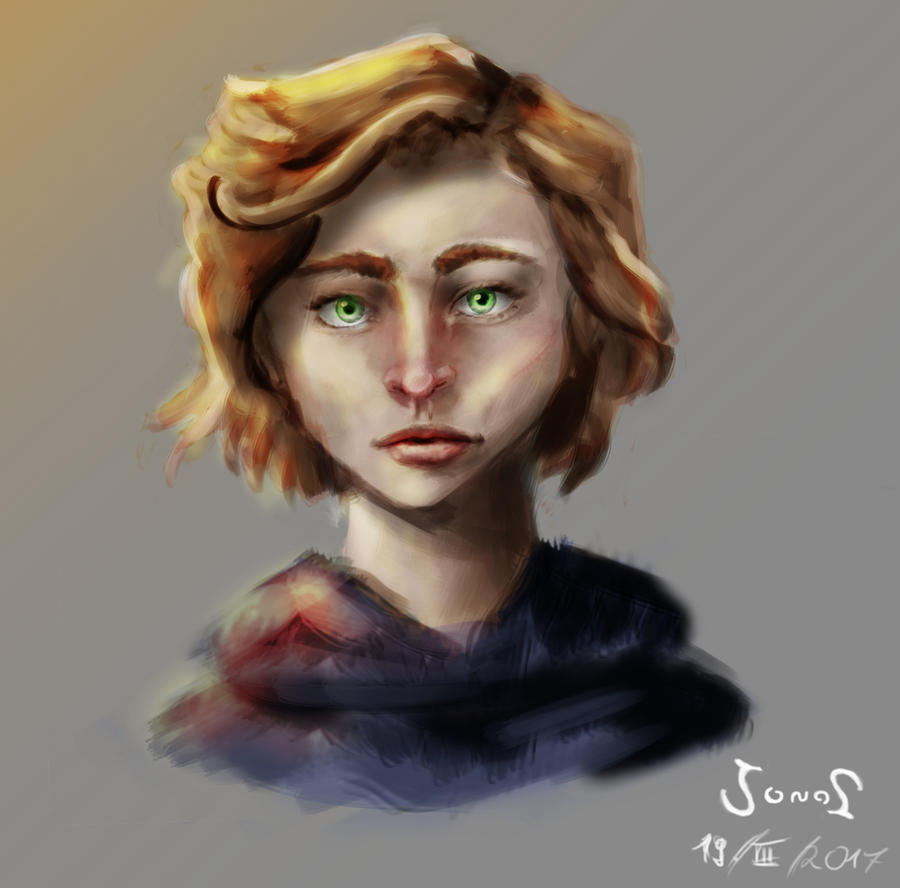 Green Eyes by Flelb