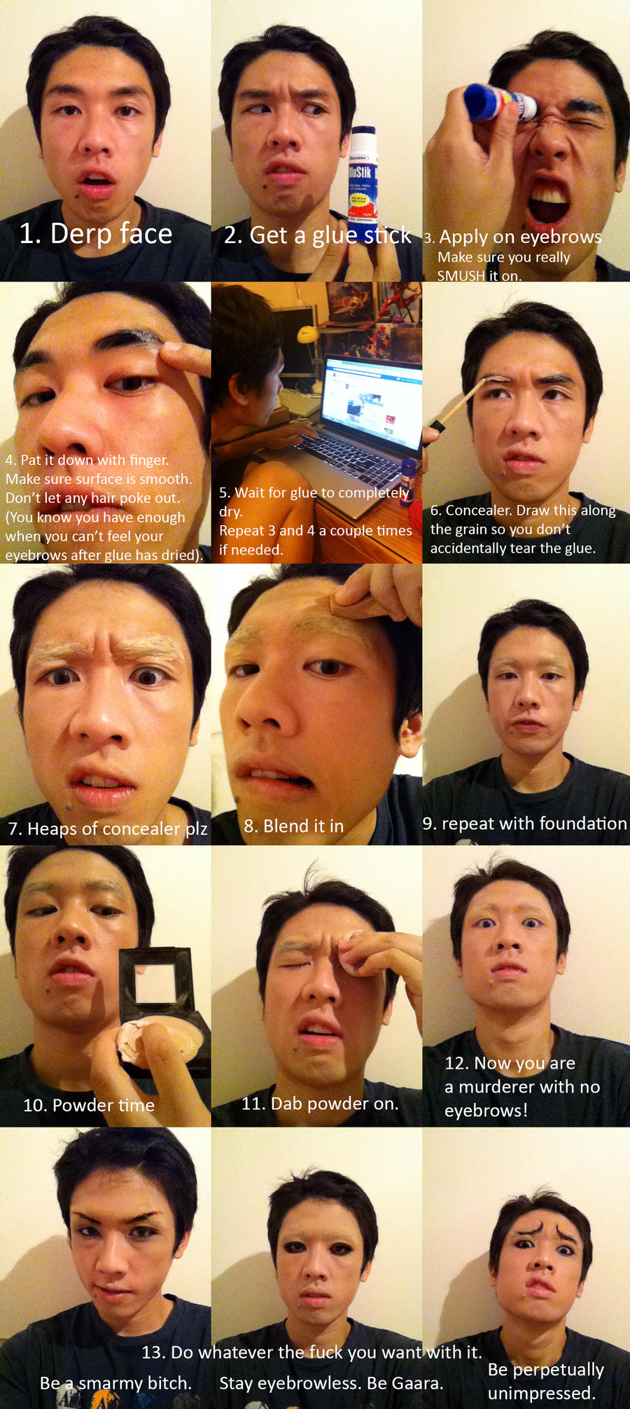 Wirru's Cosplay Eyebrows Tutorial by AmenoKitarou