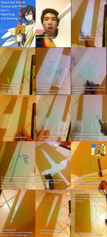 Sword and Sheath Making Tutorial - Part 1 by AmenoKitarou