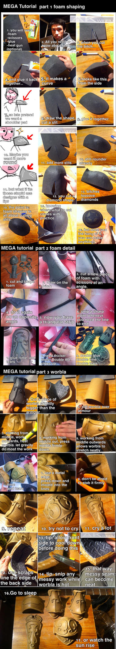 Foam and Worbla armour MEGA TUTORIAL by AmenoKitarou