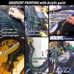 Tutorial Tuesday: Gradient Painting with Acrylic