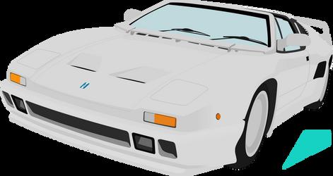 De Tomaso Pantera SI vector by ABS96