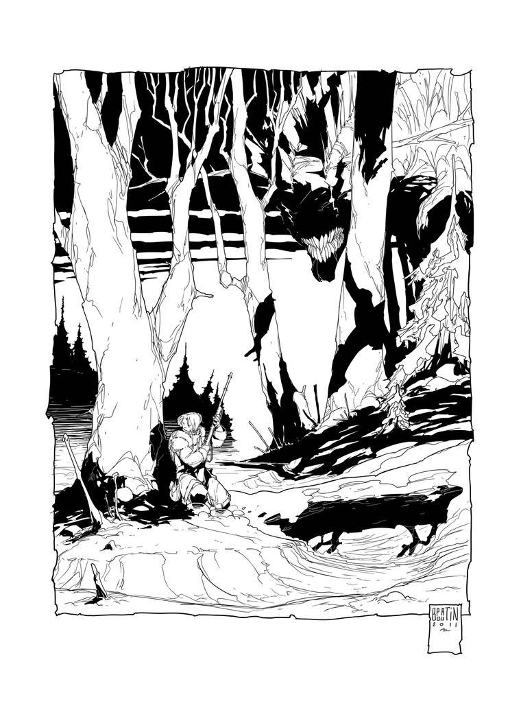 Illustration Bete du Lac by PatBoutin