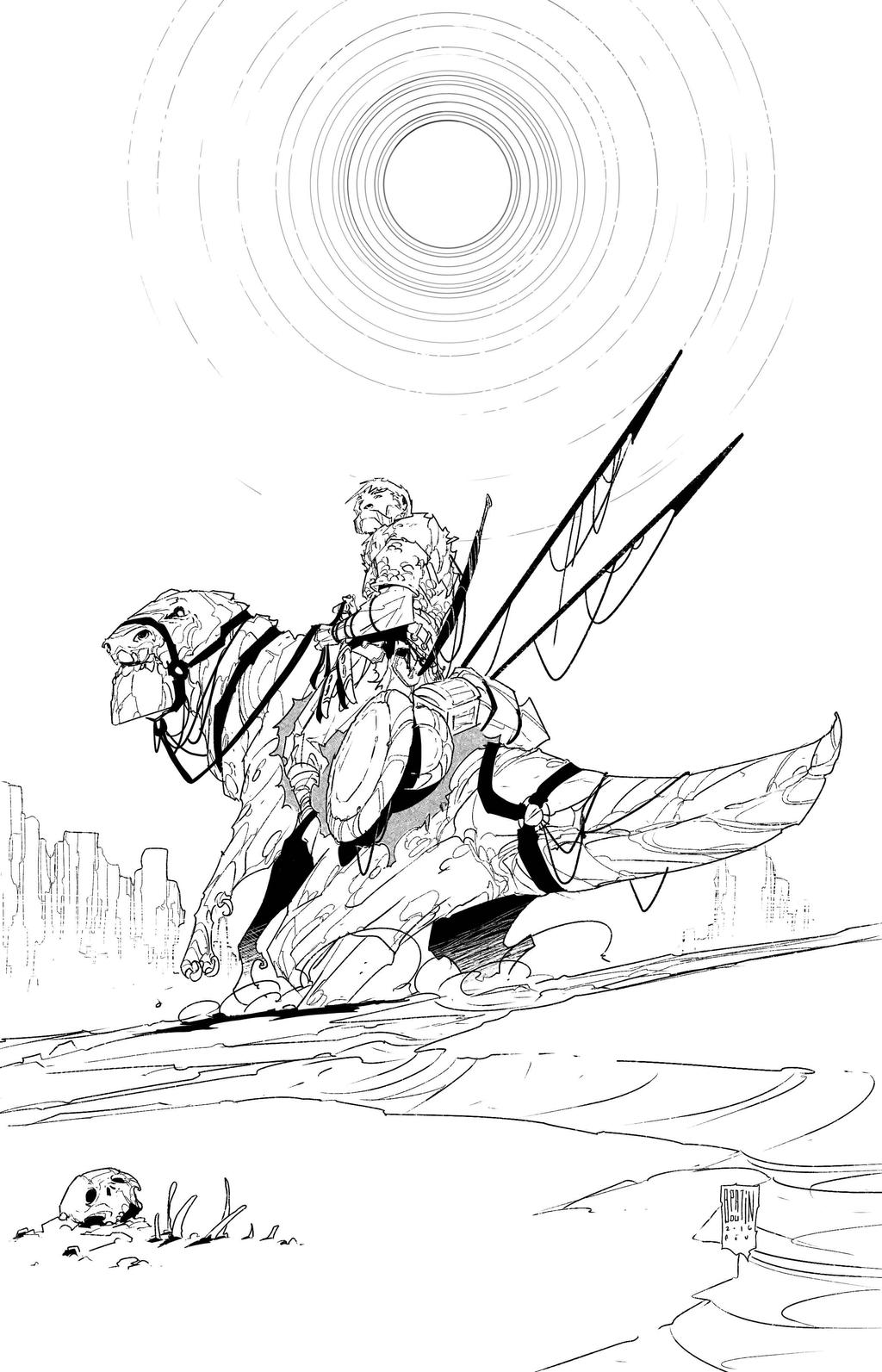Speed Inking 2016-02-26... by PatBoutin