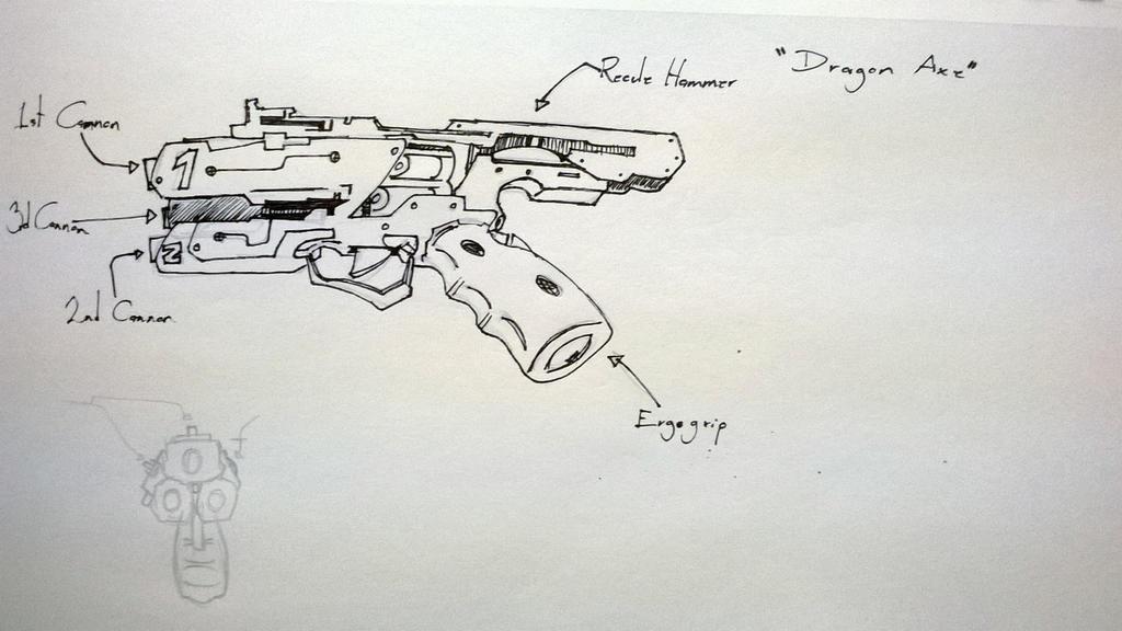 DRAGON AXE PISTOL Concept by SaddyRemus