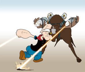 Popeye vs Moose