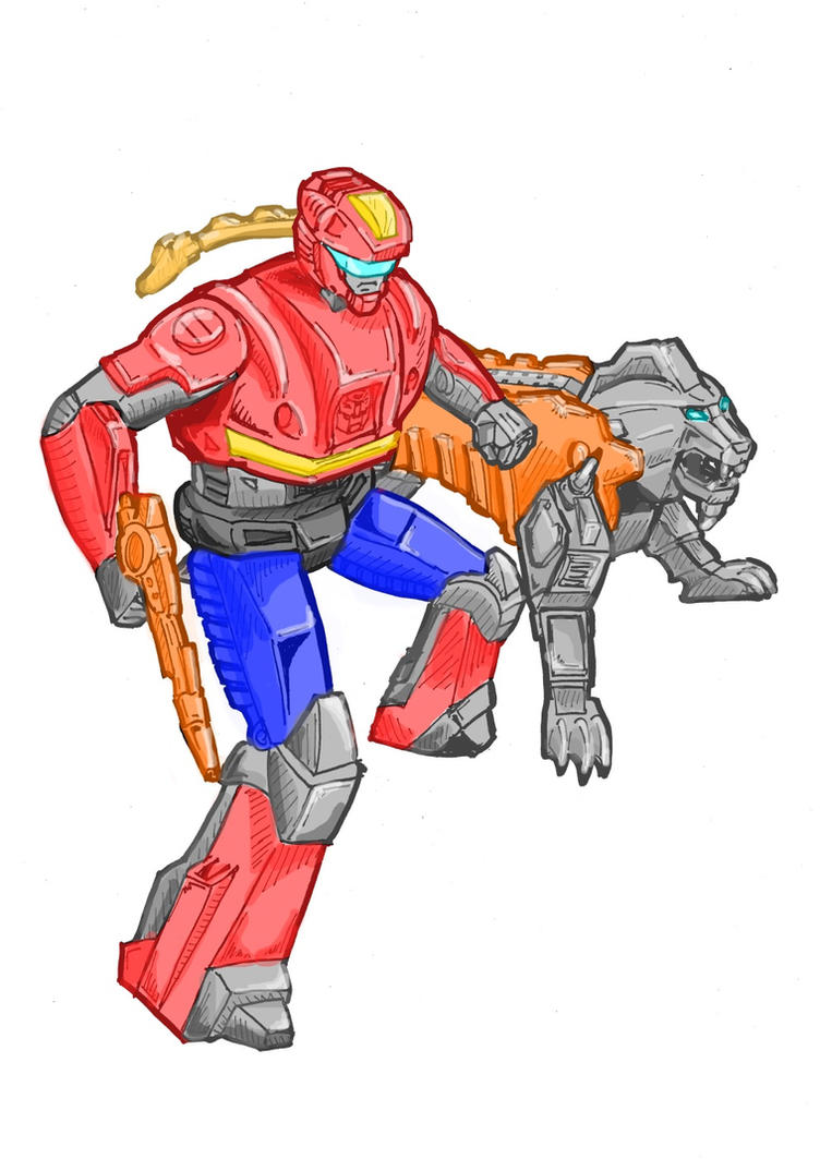 G1 ActionMaster Rad and Lionizer by JazzLuca