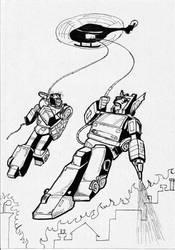 Transformers Batman 1 con Inferno e Red Alert