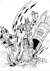 Transformers Action Comics 252 Superion e Menasor