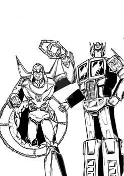Detective Comics 38 con Rodimus e Optimus Prime