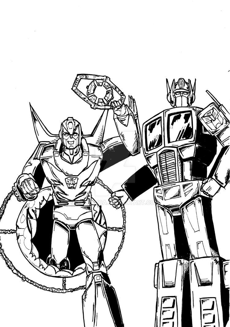 Detective Comics 38 con Rodimus e Optimus Prime by JazzLuca