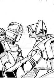 Transformers G.L. G.A. 1 con Soundwave e Shockwave