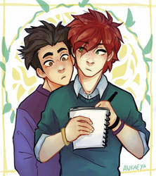 Kevin and Jeremy by Ankaeya