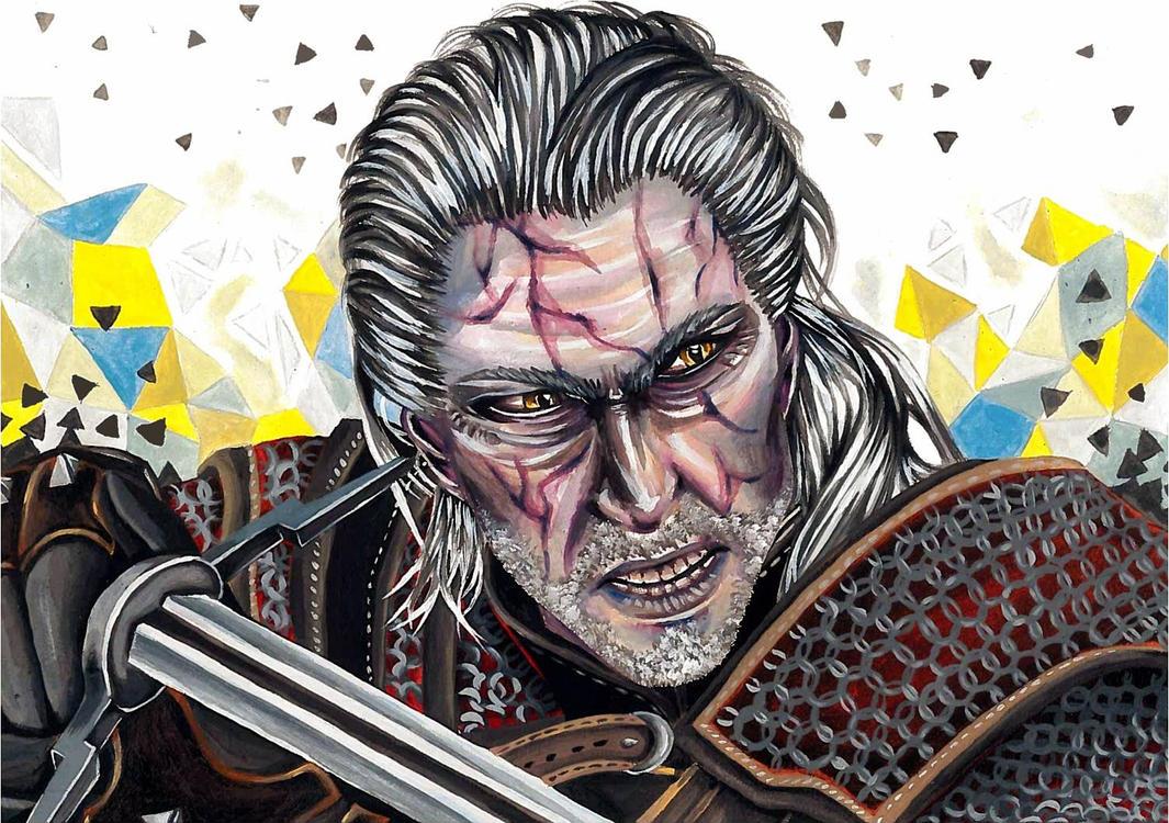Geralt of Rivia by IshiArt