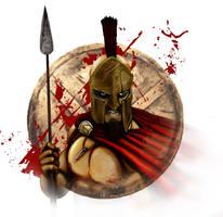 Spartan King Leonidas Portrait by Heartattackjack