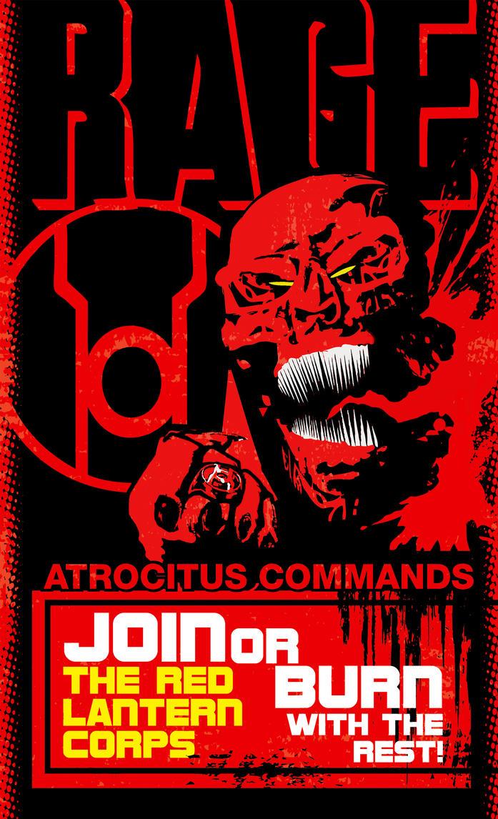 Red Lantern Corps Poster by Heartattackjack on DeviantArt Red Lantern Ring Oath