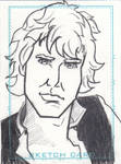 Cartoon Han Solo Sketch Card