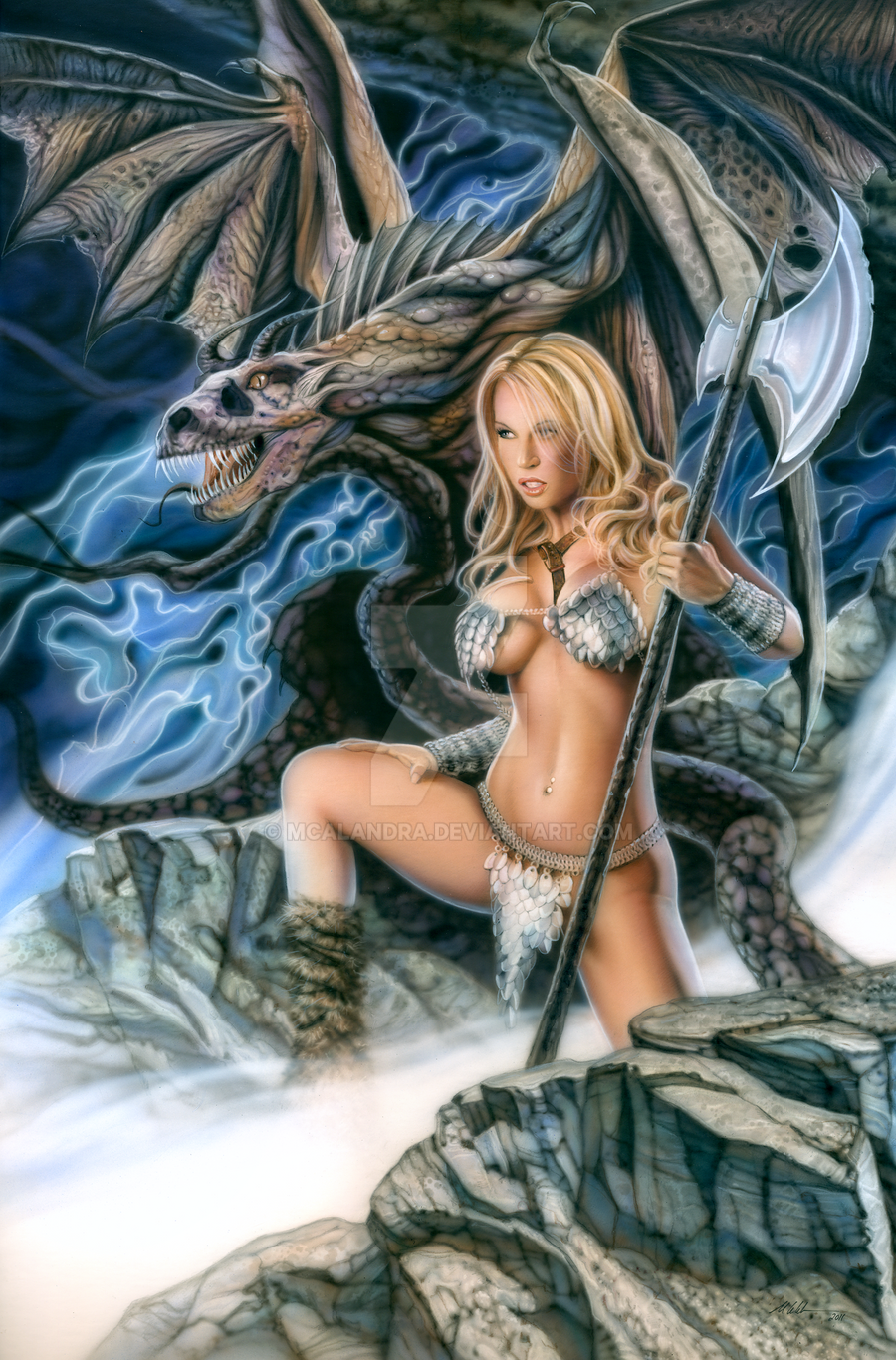 dragons fantasy nude maidens