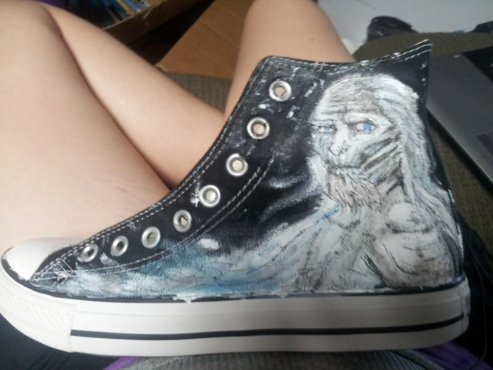 Game of Thrones - Custom Converse - White Walkers by ChainsawwCutie