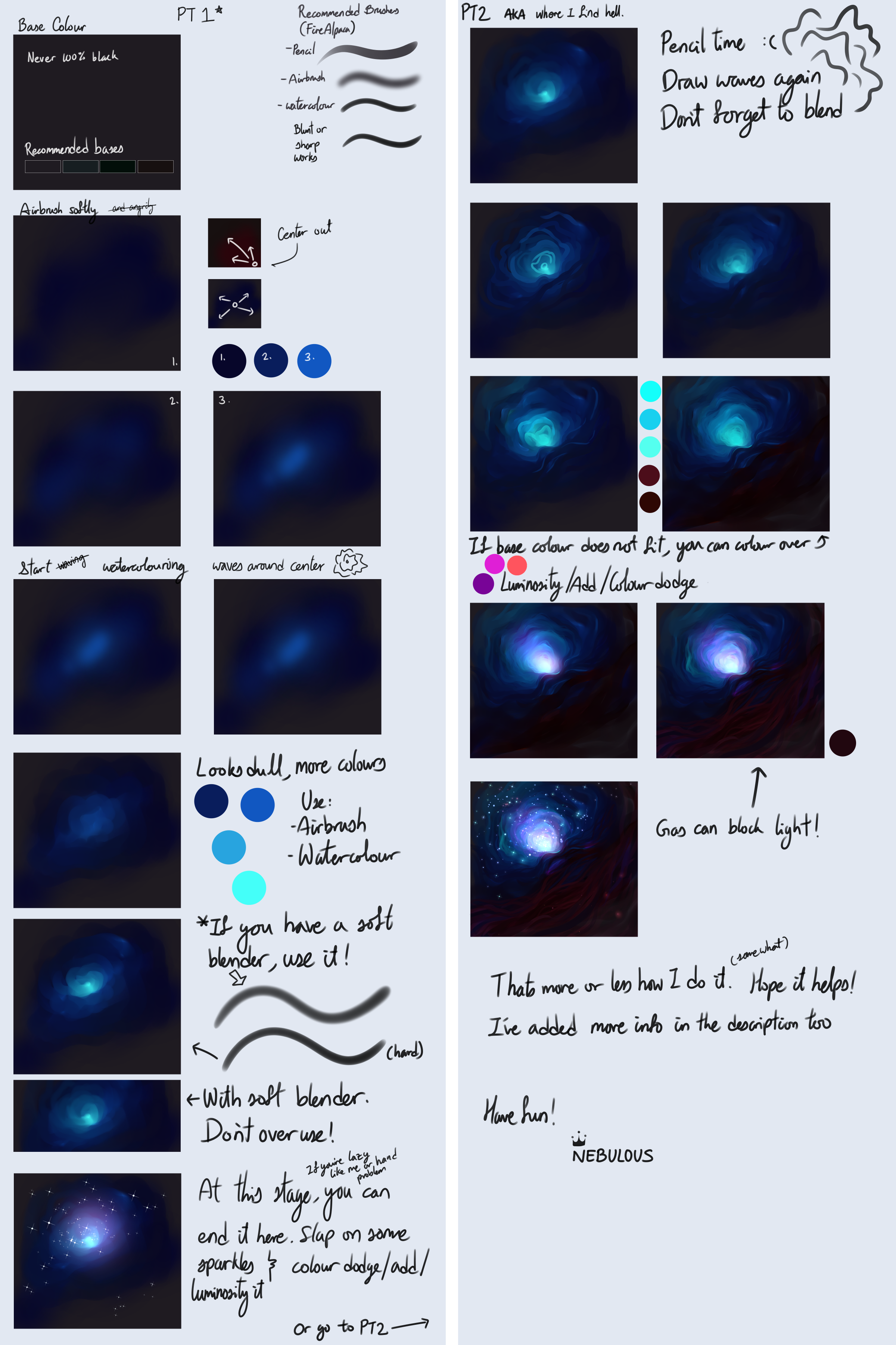 Tips and tutorials on fire alpaca deviantart for Space art tutorial