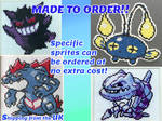 [OPEN] Made to Order Pokemon Cross Stitch by BlueStarbie-Arts