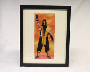 [FOR SALE] Scorpion Cross Stitch framed by BlueStarbie-Arts