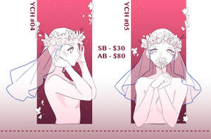 [YCH] #04-05 Flower Crown [CLOSED] by Hyu-ding