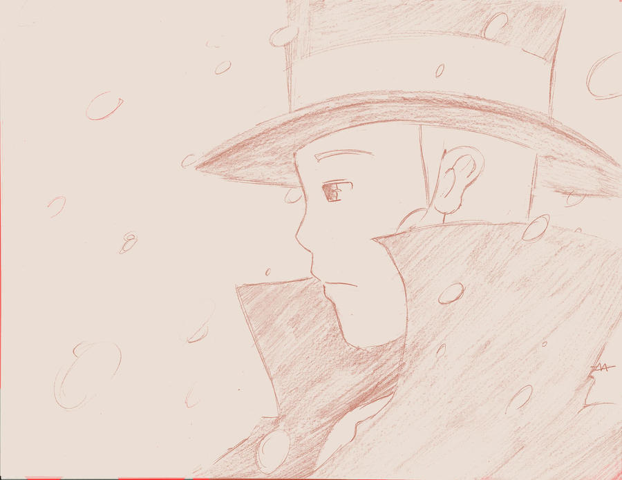 Professor Layton sketch by megamooni
