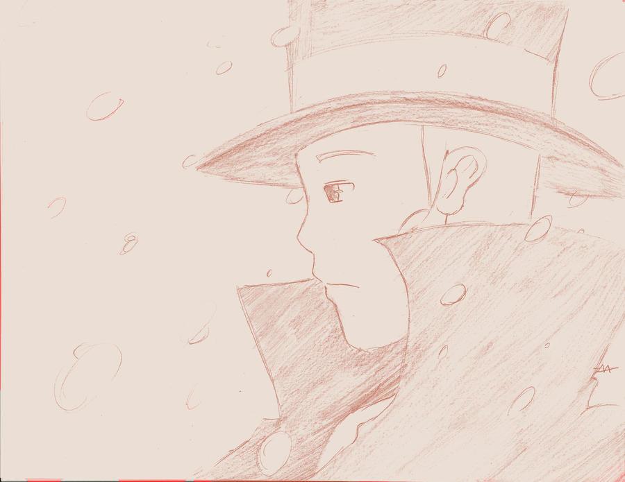 Professor Layton sketch by megamooni