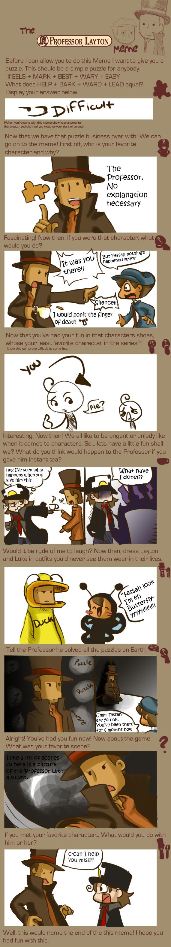 Professor Layton Meme by megamooni
