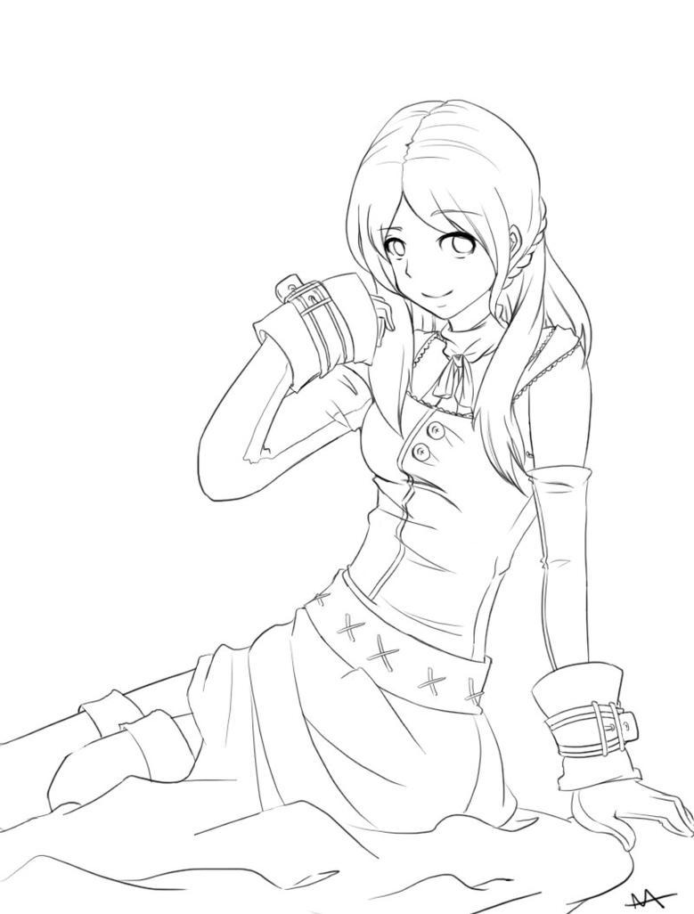 Anime Girl Outline By Megamooni On DeviantArt