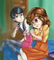 Knitting by megamooni